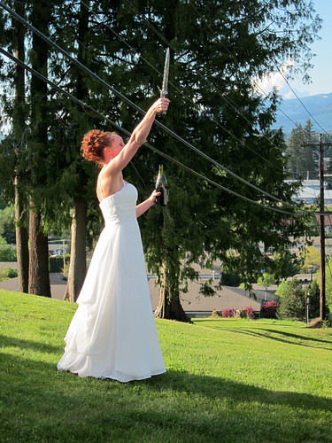 The Bride, Her Sword and Champagne