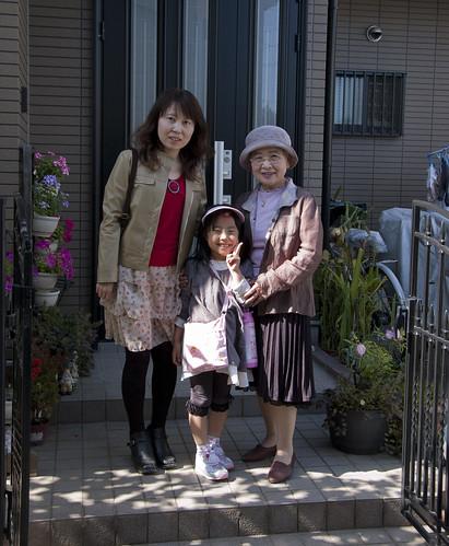 Okaa-san, Miyu-chan, and Obaa-san