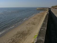 Beach in North Blackpool (friskierisky) Tags: england beach water cafe walk bluesky hotels blackpool sunnyday seasideresort carting signposts longwalk blackpooltower northpier gokarttrack spectacularview seairishsea northblackpool oldboatingpool