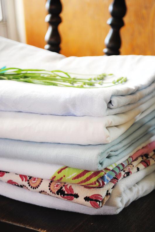 folded linens