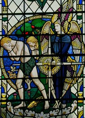 Paradise Lost, Worcester (robin.croft) Tags: eve adam cathedral stainedglass worcester geoffreyfullerwebb