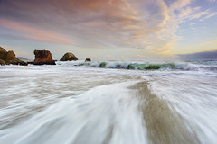 Convergence - McClures Beach, Marin County California (PatrickSmithPhotography) Tags: ocean california usa cloud seascape storm nature landscape sand surf wind marin wave convergence pointreyes monolith kehoe nationalseashore mcclures