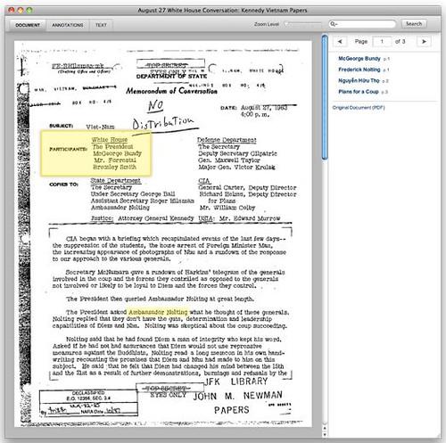 Facsimile documento no Documentcloud