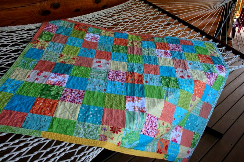 Summer quilt, top, hammock