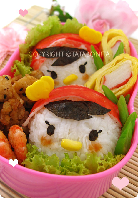 Twin Girls Bento for My B'Day 2