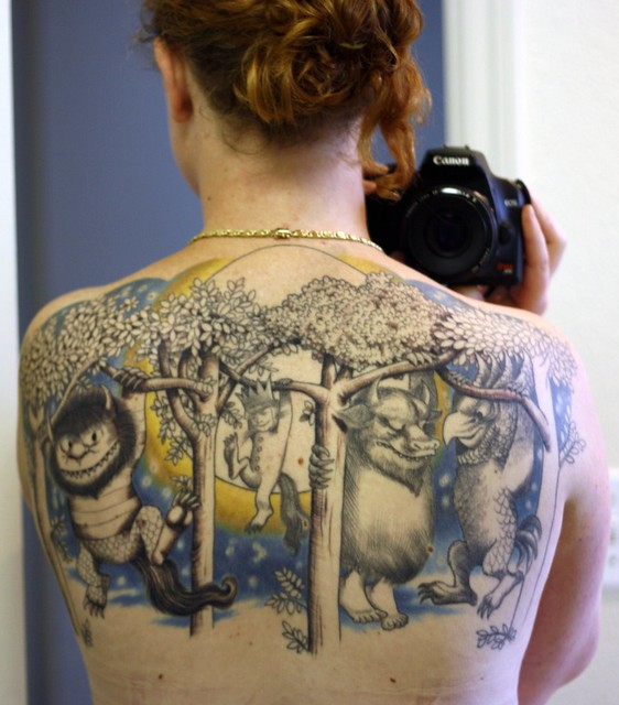 Where the Wild Things Are Tattoo. Flipped the mirrored picture.