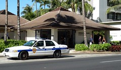 Honolulu Police Waikiki Beach (IamRender) Tags: usa station hawaii islands waikiki oahu police hawaiian honolulu