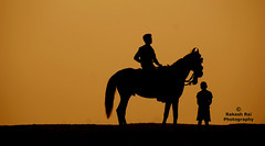 at the banks of Ganges ( Stills) Tags: horse sun silhouette sony 200 varanasi alpha rise banks ganges platinumphoto anawesomeshot