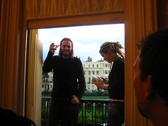 Danny on the balcony