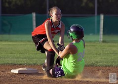 OUT AT SECOND! (chemisti) Tags: sports youth d50 nikon action softball excitement fastpitch 14u flickrsbest anawesomeshot nikkor70300mmf4556gedifafsvr
