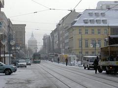 Snowy pedestrian area (picture_addicted) Tags: 2005 schnee snow d50 nikon mannheim pictureaddicted