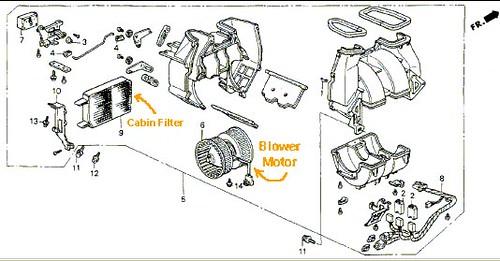 Acura Legend Blower Motor