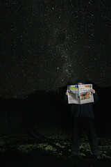 090707 it's raining again (Andrew C Wallace) Tags: night stars newspaper again raining frontpage slefportrait balooning oneperday2007
