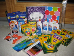 School supplies in abundance