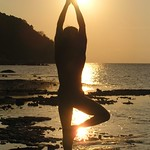 Eric Lon sunset Yoga in Thailand.