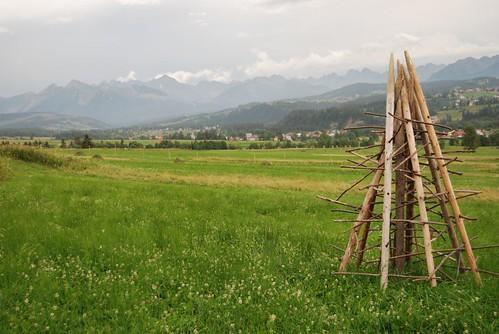 Spisz: Widok na Czarną Górę, Tatry