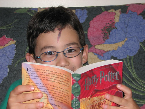 Adam with Harry Potter tattoo