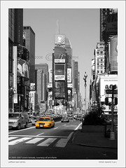 yellow taxi - times square (artundform) Tags: nyc bw usa newyork nikon cityscape yellowcab timessquare sw magical stdte taxicab yellowtaxi artform supershot utata:description=hide diamondclassphotographer flickrdiamond artundform utata:project=street