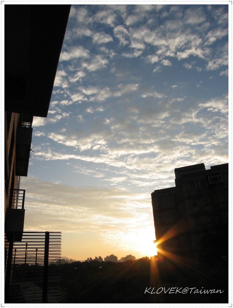 陽台觀日出