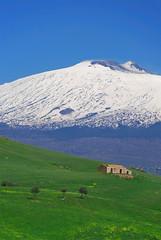 Etna - Sicily (Giuseppe Finocchiaro) Tags: blue winter sky snow verde green nikon blu cielo neve sicily inverno etna prato sicilia vulcano volcane superaplus aplusphoto centuripe