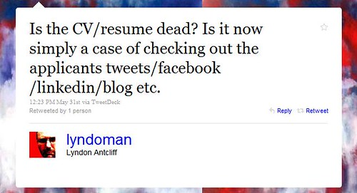 Is the CV/resume dead?
