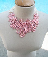 Rope Necklace -Form-Front (...love Maegan) Tags: diy accessories doityourself pearlnecklace flowernecklace ribbonnecklace necklacediy easydiys prettyinpinknecklaces