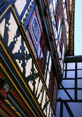 (:Linda:) Tags: house architecture germany town timber thuringia shutter halftimbered fachwerk meiningen timberframing timberconstruction andreaskreuz cruxdecussata standrew´scross