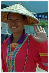 Yangshuo - a woman from the Drung minority group