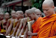Morning Alms (pearson_251) Tags: thanks asian nikon asia religion monks ritual laos buddah buddist alms morningalms d80
