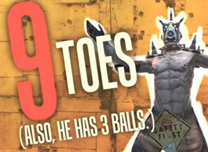 9 toes