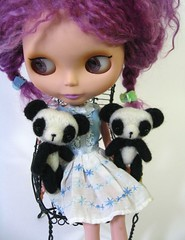 A girl and her pandas