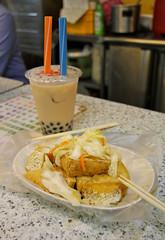 Stinky Tofu (pkingDesign) Tags: food night bubbletea market tofu taiwan taipei fried shilin taiwanese stinkytofu    pearlmilktea