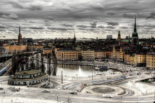 View of Stockholm. Sweden. Vista de Estocolmo. Suecia.
