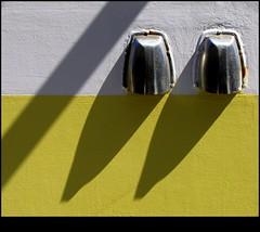 3 Shadows (Calmpjes) Tags: shadow sun white abstract yellow ship scheveningen schaduw geel wit zon schip