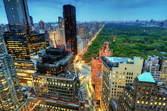 Central Park and the Upper West Side at Twilight, New York City (andrew c mace) Tags: city nyc newyork spring twilight dusk centralpark manhattan broadway tokina1224 midtown cnn columbuscircle georgewashingtonbridge timewarnercenter centralparkwest newyorkatnight photomatix trumpinternationalhotel blendedexposures trumphotel nikcolorefex nikoncapturenx nikond90