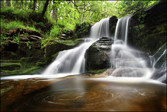 Black Spout (angus clyne) Tags: road blue red brown tree gre