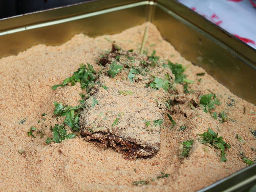 Bathed in peanut flour and cilantro