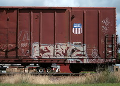 Abe (wouldpkr) Tags: art train graffiti il abe dekalb 3f upsk