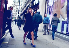 The street is my own catwalk :-) (Pierre Mallien) Tags: modifidansiphoto london londres uk england britain people blue girl lady woman catwalk pit pitvanmeeffe pierre mallien street rue streetphoto wedding argyll oxford regent fashion shopping fun bus raw rawstreet metropolis londonist eos canon candid urban 5dmark2 pierremallien streetphotographer rechercheunphotographemariage mariage stagephotobelgique stage photo walloniestage pour tous en belgique lemeilleurphotographedemariagedebelgique