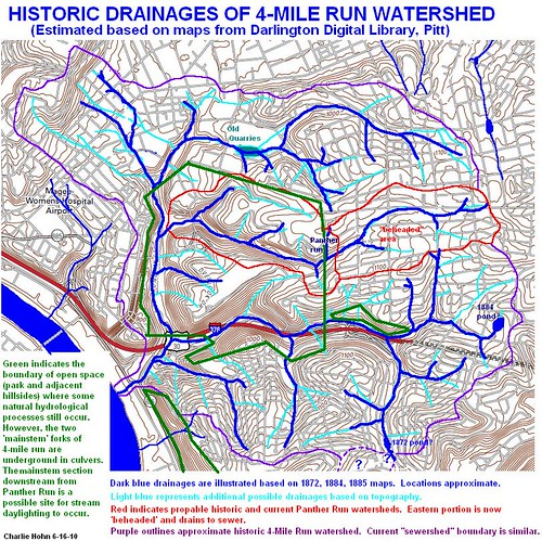 Historic Drainages of the 4-Mile Run Watershed