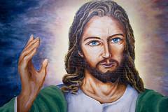 Jesus (le calmar) Tags: sun canada church canon cross quebec religion jesus qubec glise openair croix cureuil jsus tamia bancs beauvoir eos50d
