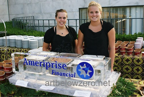 ColdStone & Ameriprise Gelato Station ice sculpture