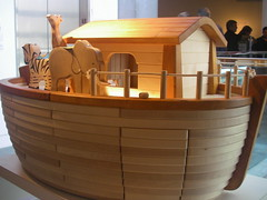 Noah's Ark Toy  Skirball Cultural Center Los Angeles (Al_HikesAZ) Tags: noah vacation ecology animals museum 510fav losangeles flood religion diversity center exhibit story bible multicultural genesis ark noahs cultural earthday biodiversity noahsark noach holybible skirball literaryreference eleh toldot losangeles2007 alhikesaz