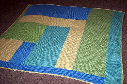 Moderne Log Cabin Baby Blanket