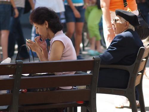 old man watching