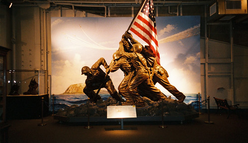 Iwo Jima Memorial Statue, USS Intrepid, New York City.