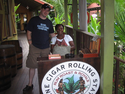 Brian with the Cigar-Rolling Lady