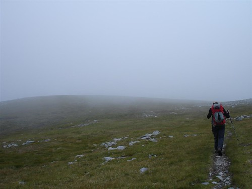 Low cloud on Carn Ghluasaid