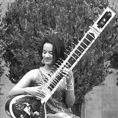 Anoushka (Stew*) Tags: sanfrancisco california bw photoshop sitar sterngrove anoushkashankar