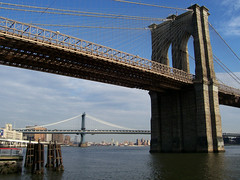 Brooklyn Bridge, New York City (Steve W Lee) Tags: nyc newyorkcity bridge ny newyork brooklyn marina river harbor pier cityscape waterfront manhattan bridges landmark icon brooklynbridge manhattanbridge eastriver williamsburg hudson williamsburgbridge newyorkbridges nybridges